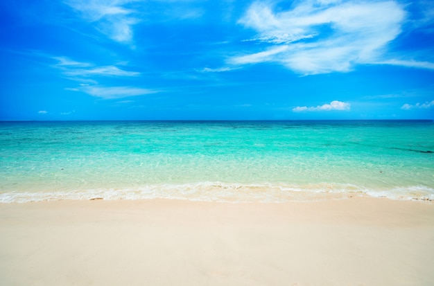 Soft wave on sandy beach. Premium Photo