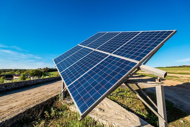 Solar panel energy from the sun Premium Photo