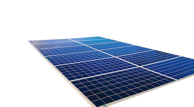 Solar panels isolated on white background. solar energy concept images. Premium Photo