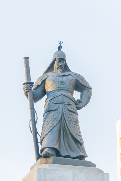 Soldier statue in seoul city korea Free Photo