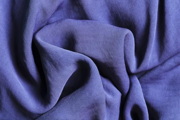 カーテン用のしっかりとした曲線の青い生地 Premium写真