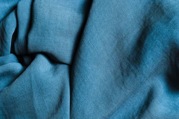 カーテン用のソリッドな曲線のオーシャンブルー生地 Premium写真