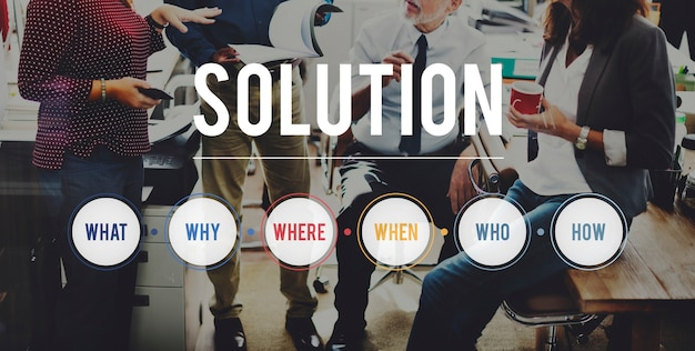 Solution question system problem solving concept Free Photo