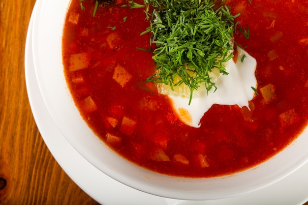 Solyanka soup Premium Photo
