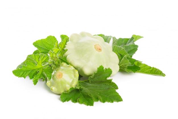 Sommer squash isolated on white Premium Photo