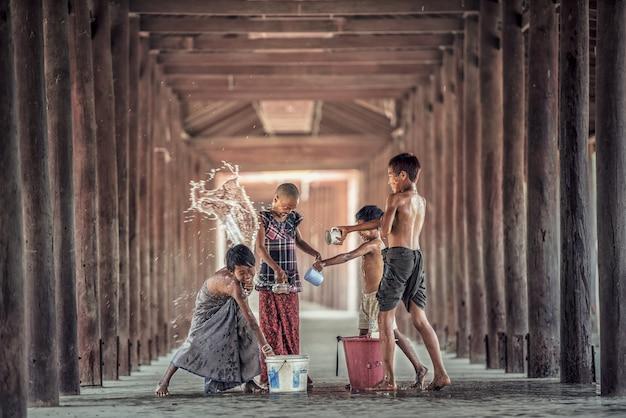 Songkran festival Premium Photo