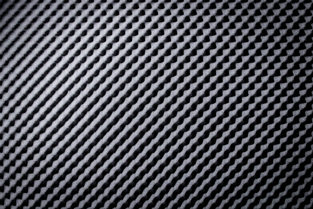 Sound proof acoustic black gray foam absorbing Premium Photo