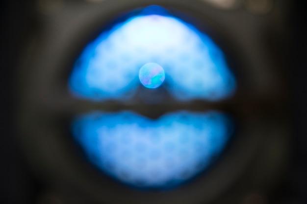 Sound speakers dynamics defocused light background. Premium Photo