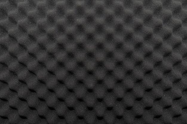Soundproof wall in sound studio, background of sound absorbing sponge Premium Photo
