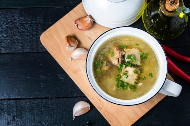 Soup pork ribs Premium Photo