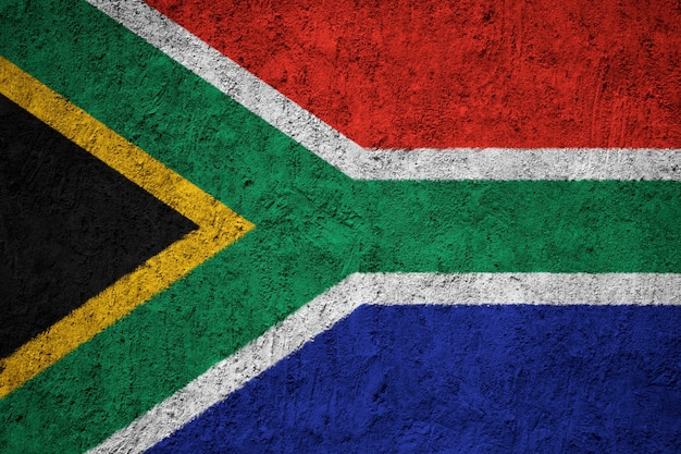 South africa flag painted on grunge wall Premium Photo