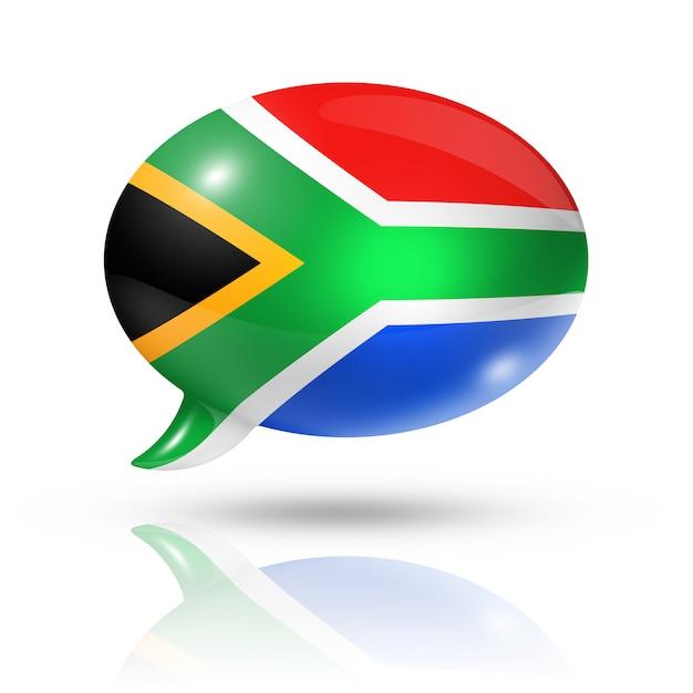 South african flag speech bubble Premium Photo