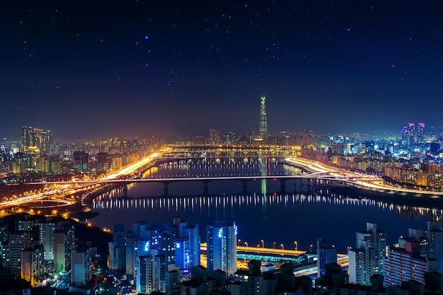서울의 한국 스카이 라인, 한국의 도시 풍경 무료 사진