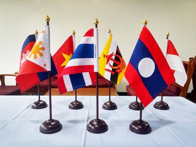 Southeast asia flags Premium Photo