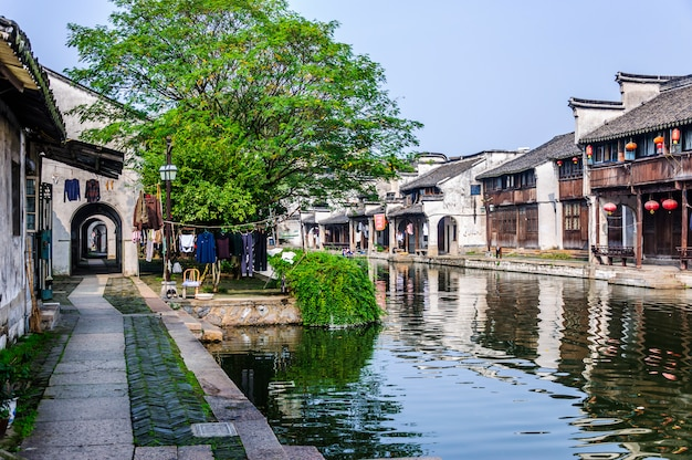 Southern water structure road culture china Free Photo