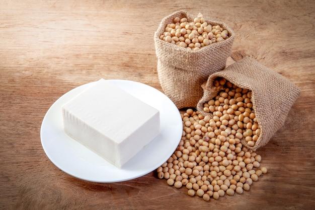 Soy tofu or bean curd Premium Photo