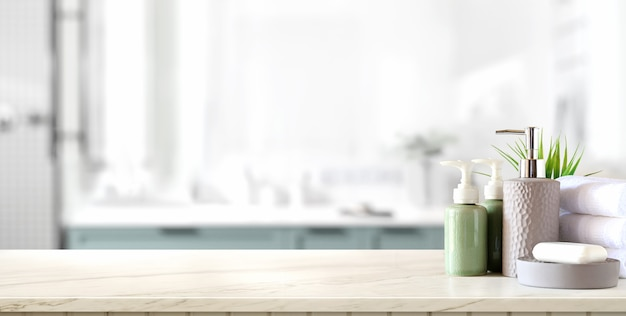 Spa accessories on the table Premium Photo
