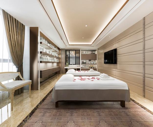 Спа и массажный велнес-кабинет в гостиничном номере Premium Фотографии