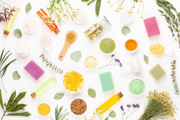 Spa aromatherapy floral background Premium Photo