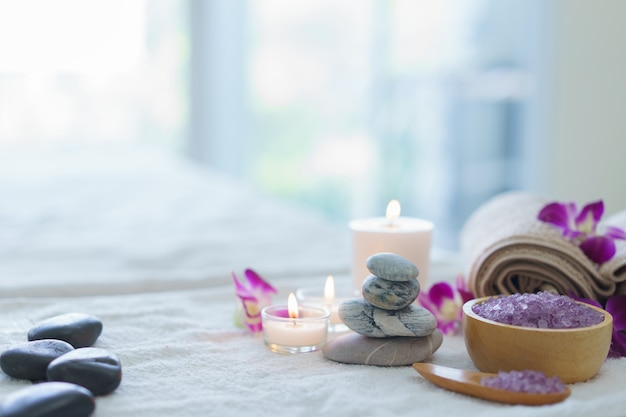 Spa ball.spa herbal ball with candle Premium Photo