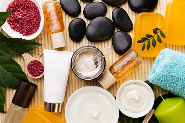 Spa beauty care concept beautiful various products spa for Productos para spa
