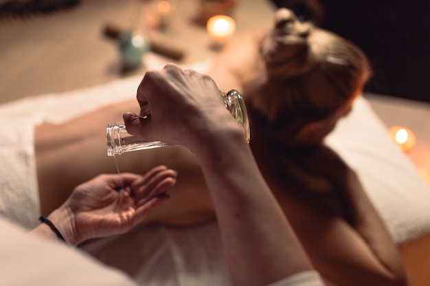 Spa concept with woman Free Photo