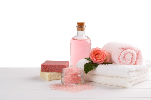 Spa and health care items Premium Photo