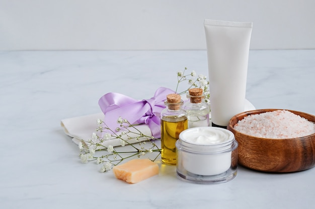 Premium Photo | Spa natural skin care products