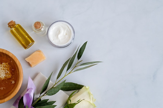 Spa natural skin care products Premium Photo