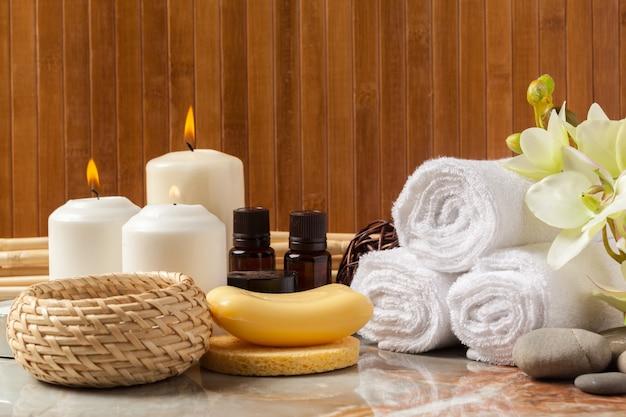 Spa products, spa concept Premium Photo