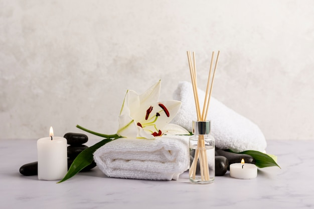 Spa therapy concept with scented sticks Free Photo