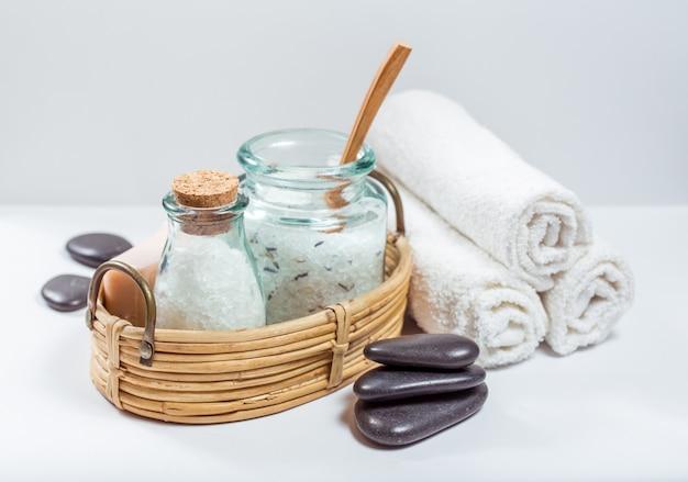 Spa and wellness setting Premium Photo