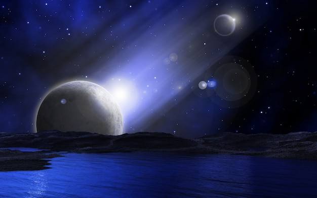 Space background Free Photo