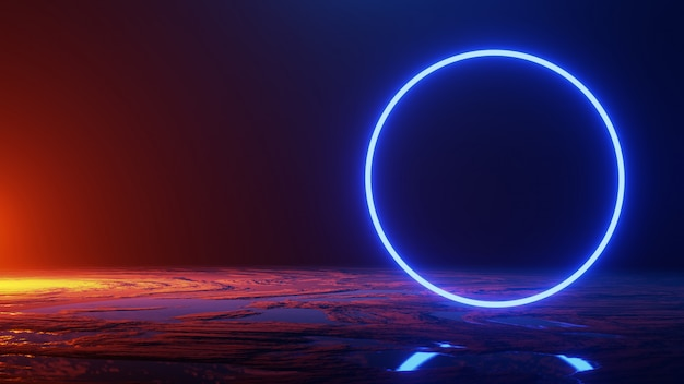 Space travel, universe concept, 3d render Premium Photo