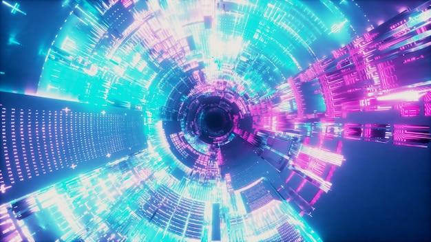 우주선 터널 프리미엄 사진
