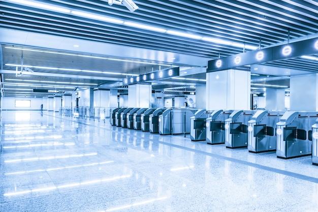 Spacious subway station Free Photo