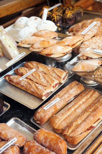 Spanich sandwich at shop window Free Photo