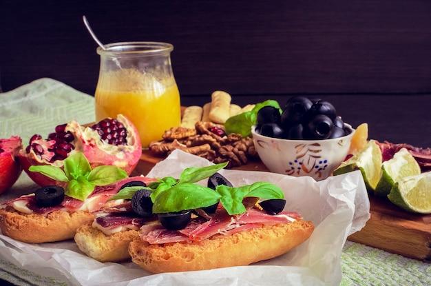 Spanish food tapas Premium Photo