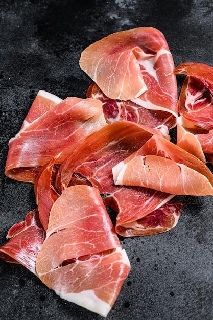 Spanish jamon serrano, ham Premium Photo
