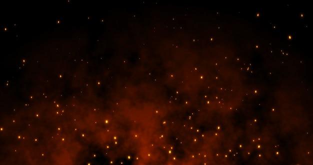Sparks fly on black Premium Photo