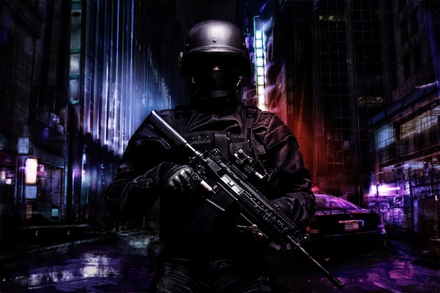 Spec ops police officer Premium Photo