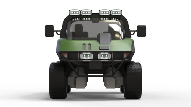 Special all-terrain vehicle for difficult terrain and difficult road and weather conditions Premium Photo