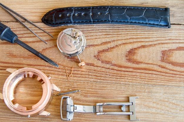 Special tools for repair of clocks. Premium Photo