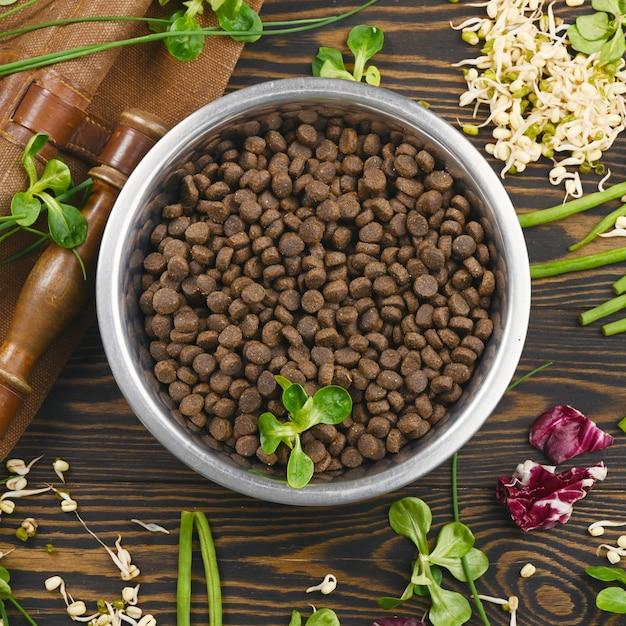 Special vegan pet food and natural raw ingredients Premium Photo