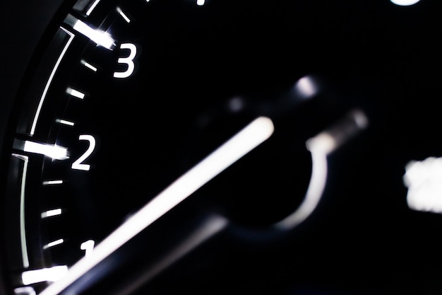 Speed meter close up car Premium Photo