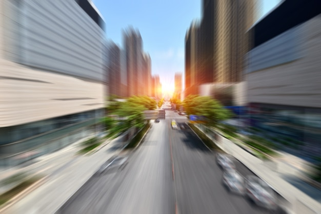 Speed motion in urban highway road tunnel Free Photo