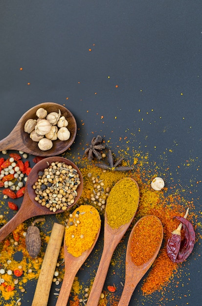 Spices and herbs for cooking Premium Photo