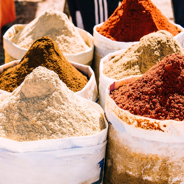 Spices on market in marrakech Free Photo