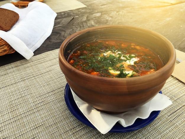 Spicy fish soup Premium Photo