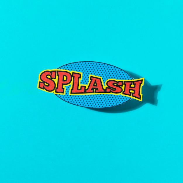 Splash wording sound effect for comic speech bubble on